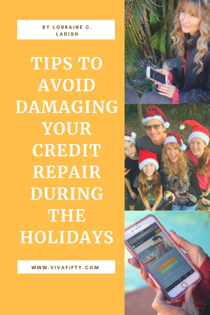 Holiday shopping and travel could damage your credit repair process. Here are some things you can do to avoid this. #AD #shopping #creditscore #creditrepair #holidays