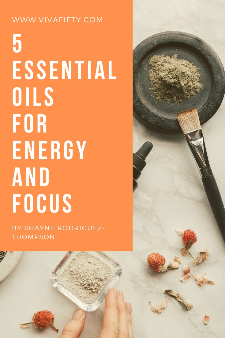 Essential oils may help with many of the symptoms of perimenopause, from brain fog to fatigue. Here are five I swear by. #perimenopause #menopause #essentialoils #fatigue