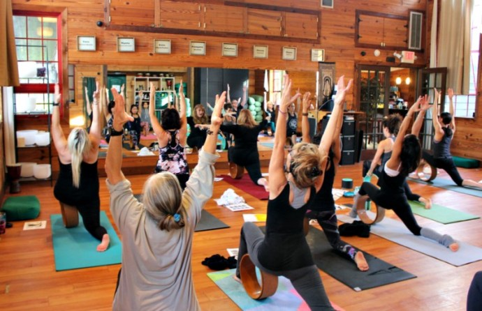 Yoga wheel workshop with Ginny East at Heartwood
