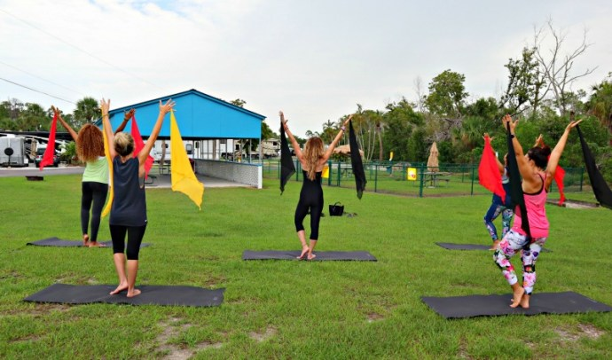 This is what a wellness retreat at a Florida campground looks like