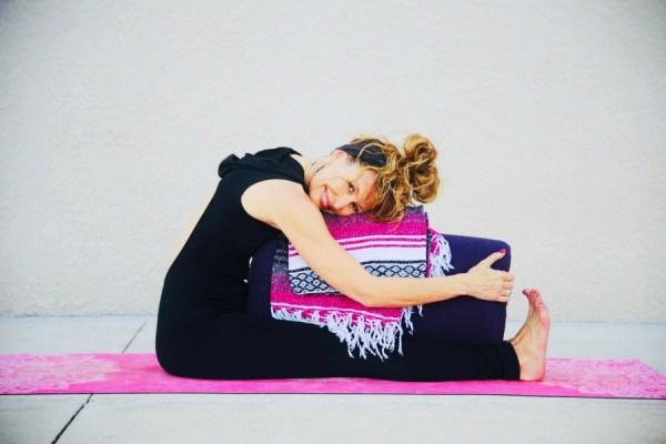 Restorative yoga forward folds for a good night's sleep