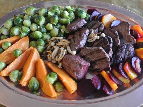 buffalo tenderloin filets cooked platter