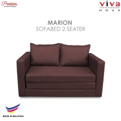 Fabric Sofa Cover Malaysia Brown Recliner Set Viva Houz Marion 2 Seater Bed Full