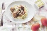Espagueti con Albóndigas. Una receta fácil de pasta con carne