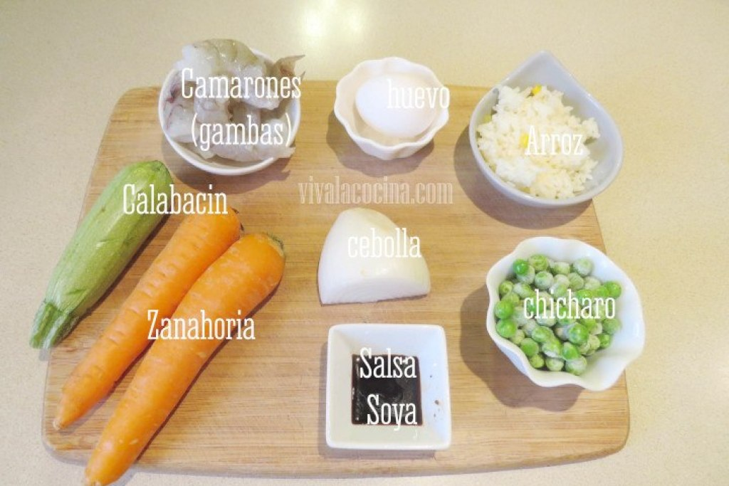 ingredientes para hacer arroz frito al estilo chino