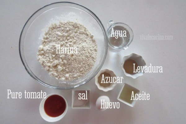 Ingredientes del pan de tomate