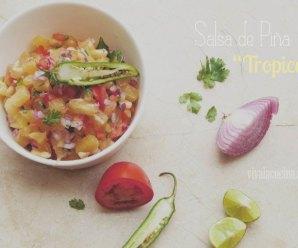 Salsa de Piña Tropical. Receta rápida para preparar en 5 minutos