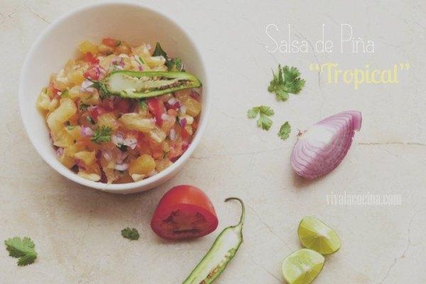 Salsa de Piña Tropical hecha en casa