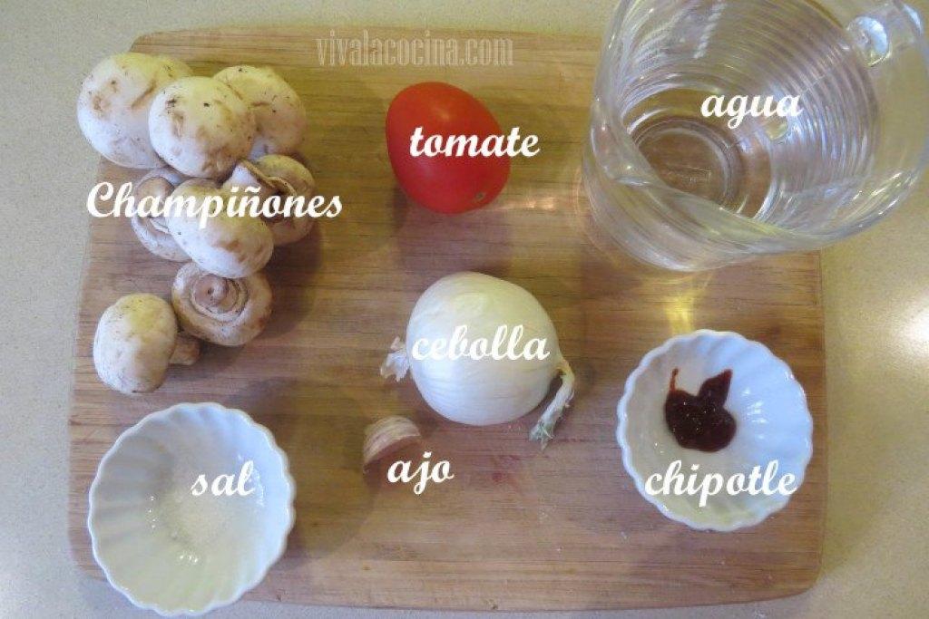 Ingredientes para preparar la Sopa de Champiñones