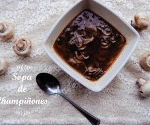 Sopa de Champiñones: rápida y fácil de preparar