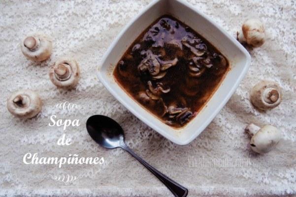 Sopa de Champiñones: rápida y fácil