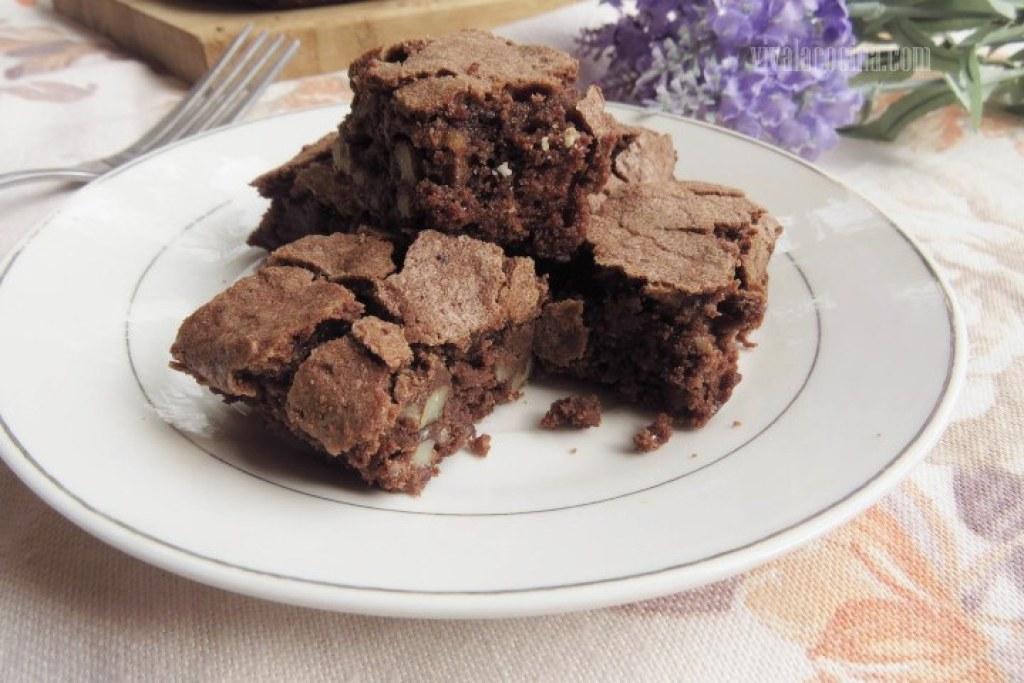 Brownies con nueces caseros