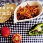 Pierna de Cerdo con Chile Guajillo. Receta de carne al estilo mexicano