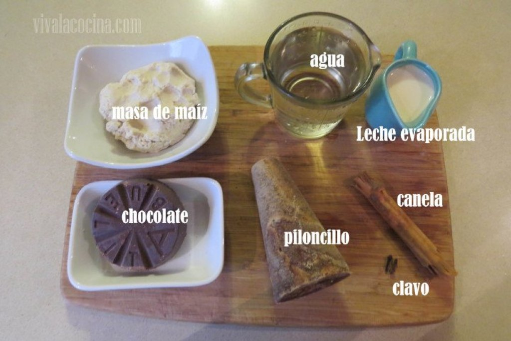 Ingredientes del Champurrado