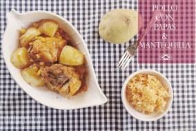 Pollo con Papas, maíz y Mantequilla. Receta fácil y deliciosa