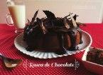 Rosca de Chocolate con cobertura de chocolate puro. Receta fácil