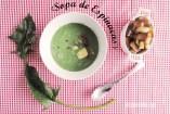 Sopa de Espinacas Cremosa. Receta fácil de crema ligera de espinacas