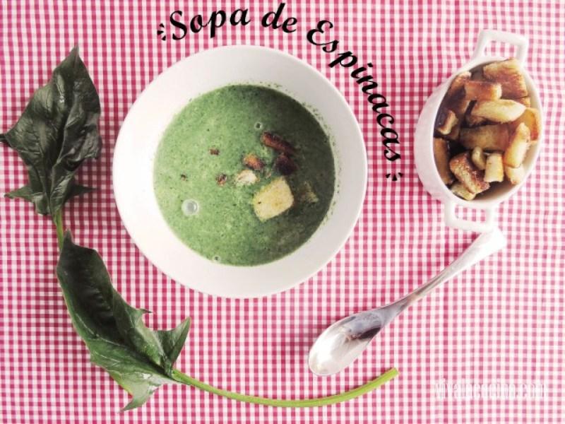 Receta de sopa de espinacas cremosa