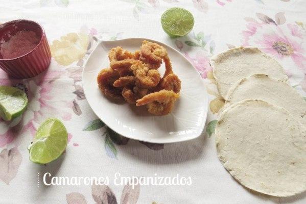 receta de camarones empanizados