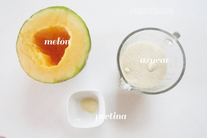Ingredientes para preparar la receta de Mermelada de Melón