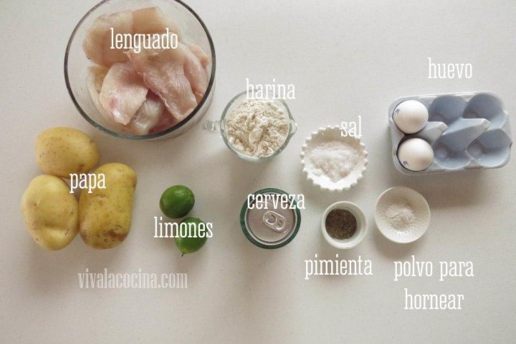 Ingredientes para preparar Fish & Chips