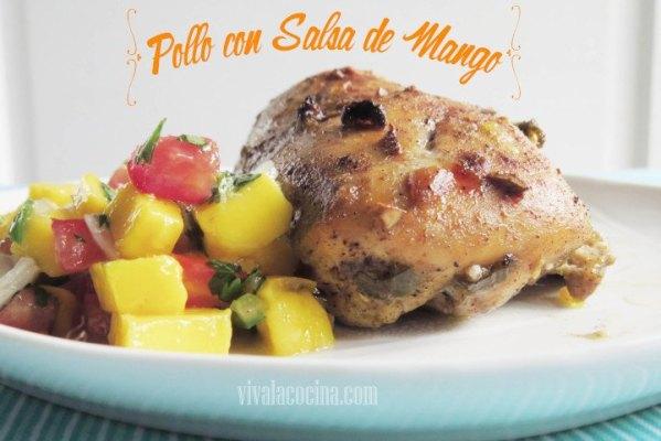 Pollo con salsa de Mango