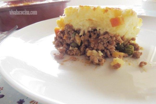 Shepperd pie o pastel de carne y patatas