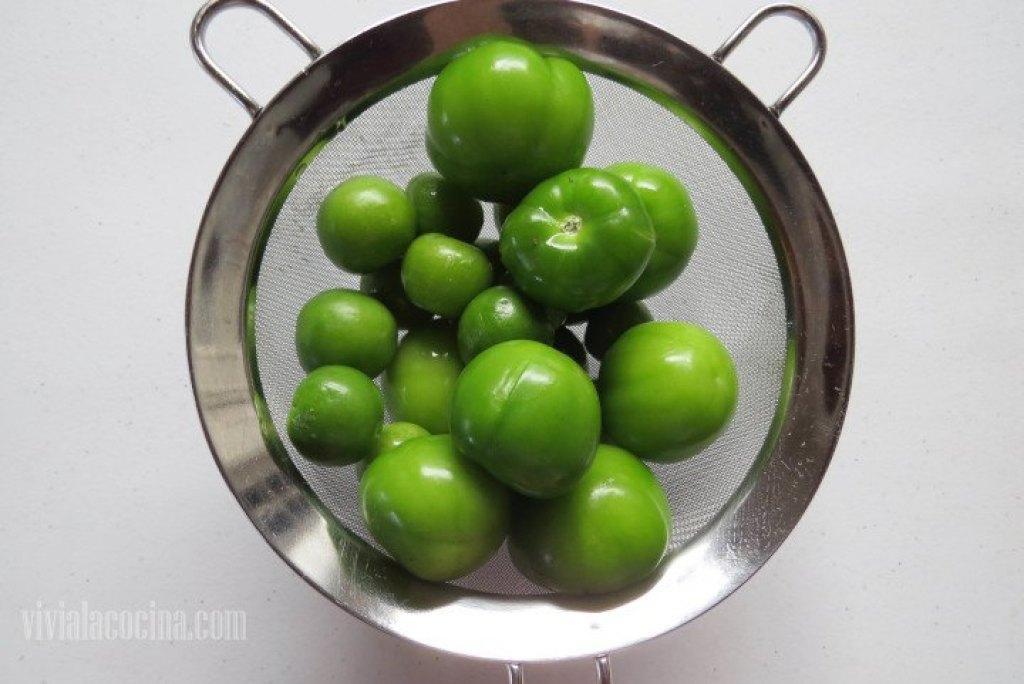 Tomates Verdes para la receta de Carne de Cerdo en salsa verde