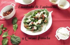 Ensalada de Espinacas con Aderezo de Crema con Ajo