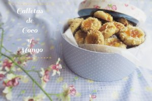 Galletas de Coco con Mermelada de Mango. Galletas caseras fáciles