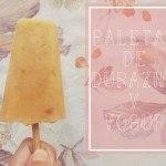 Paletas Heladas de Yogur y Durazno: receta paso a paso