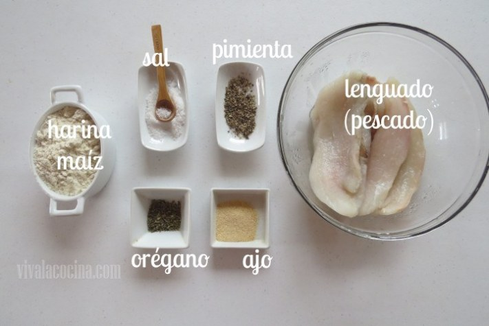 Ingredientes para los Chicharrones de Pescado