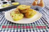 Mini Frittatas de Verduras con jamón y queso. Receta de Frittata Casera