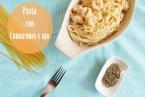 Espagueti con Camarones en Salsa de Crema y Ajo. Receta fácil