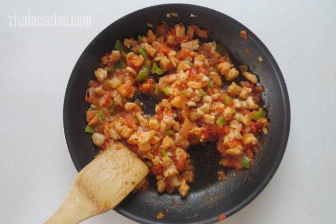 Relleno de Camarón con verduras para las empanadas