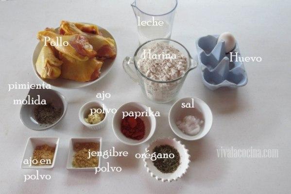 Ingredientes Pollo frito americano estilo sureño