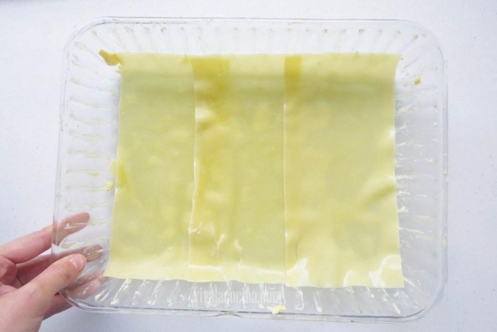 Colocar la Pasta de lasaña