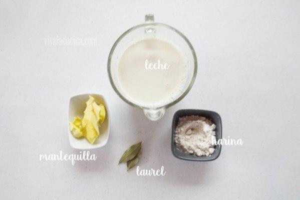 Ingredientes para hacer la Salsa Bechamel