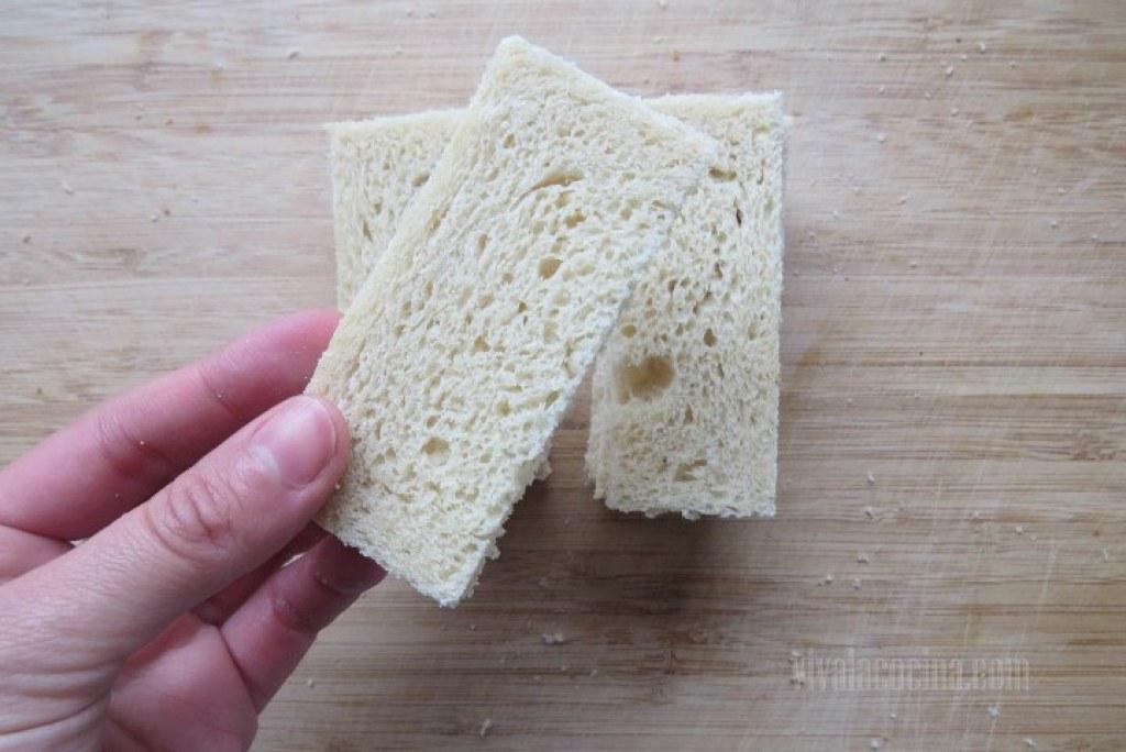 Cortar por la Mitad el pan de molde