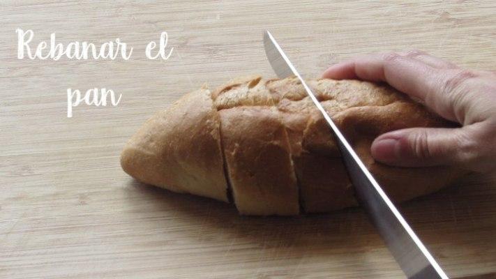 Cómo rebanar el pan para hacer el pudin de pan