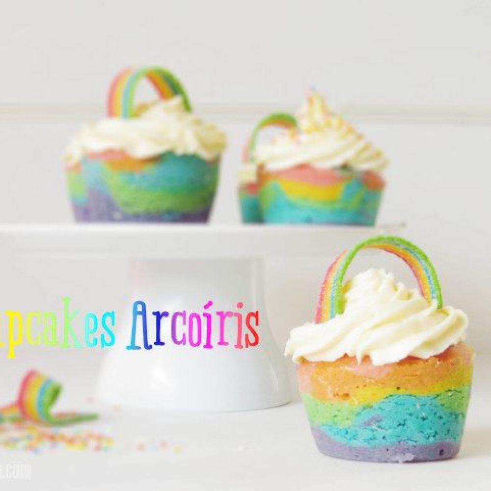 Cupcakes de Arcoiris