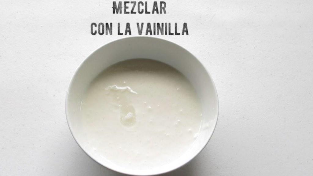 Mezclar vainilla para las paletas napolitanas