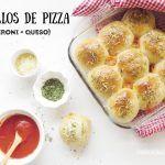 Panecillos de pizza caseros rellenos de queso y pepperoni. Videoreceta