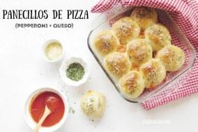 Panecillos caseros de pizza pepperoni y queso. Receta fácil y Vídeo