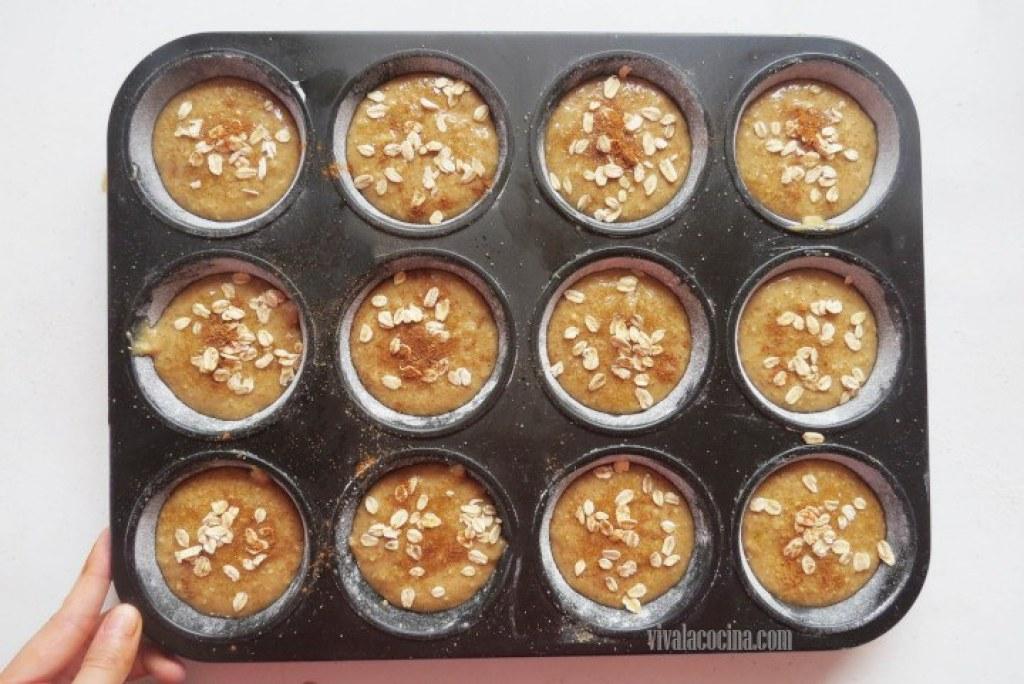 Cómo decorar los muffins con avena y canela