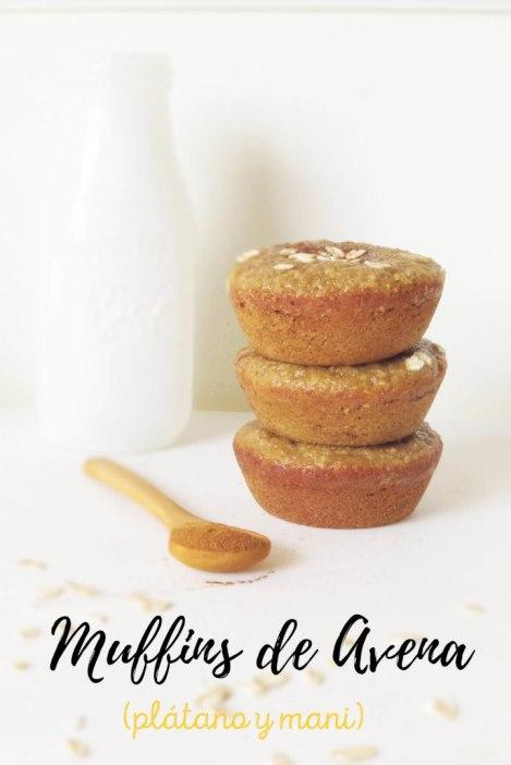Cómo hacer Muffins de Avena, Plátano y Maní