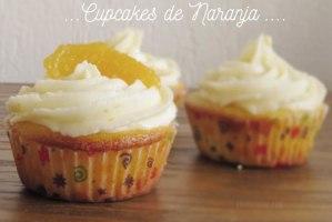 Cupcakes de Naranja con Cobertura para Cupcakes fácil y rápida