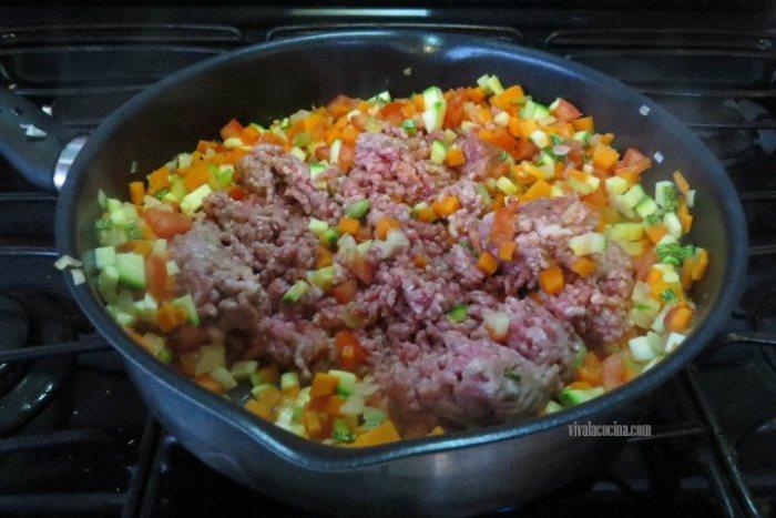 Carne para hacer lasaña en olla lenta