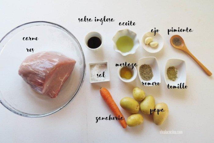 ingredientes roast beef en olla lenta