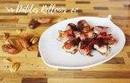 Receta de Dátiles con Bacon rellenos de queso. Aperitivo navideño fácil
